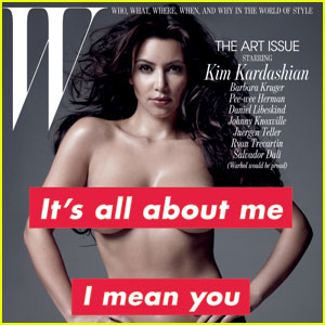 Kim Kardashian Goes Nude for W's November Issue