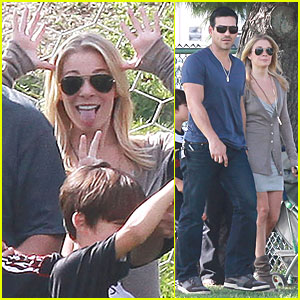LeAnn Rimes: Silly Pictures for Soccer Team Shoot!