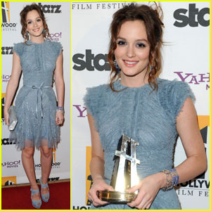Leighton Meester: Feeling the Blues at Hollywood Awards