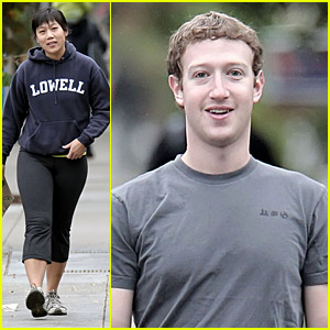 Mark Zuckerberg Goes For A Sunday Stroll