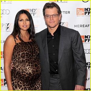 Matt Damon: 'Hereafter' Premiere with Luciana!