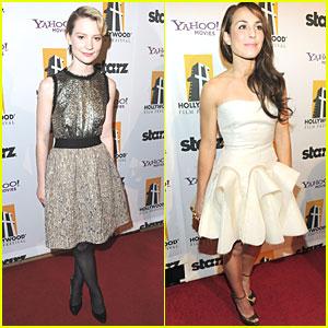 Mia Wasikowska & Noomi Rapace: Hollywood Awards Gala!