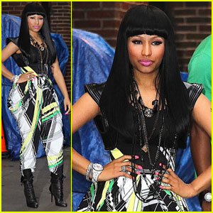 Nicki Minaj 'Checks It Out' On Letterman With will.i.am
