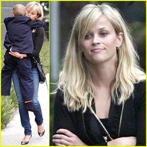 Reese Witherspoon Carries Deacon To Dinner