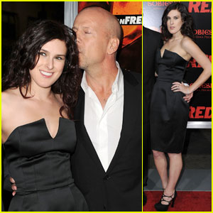Rumer Willis: 'Red' Screening with Dad Bruce!