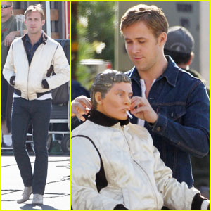 Ryan Gosling Gets Friendly with a 'Drive' Dummy
