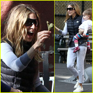 Sarah Jessica Parker: Playground Playdate With Twins
