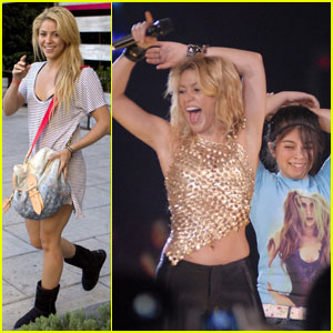 Shakira Shakes & Shows Her Hips Don't Lie!