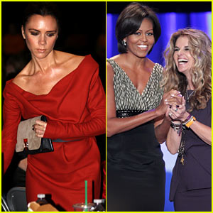 Victoria Beckham & Michelle Obama: Women's Conference Attendees