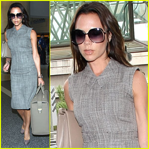 Victoria Beckham Leaves For London