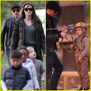 Angelina Jolie & Brad Pitt: Park Playtime with Kids!