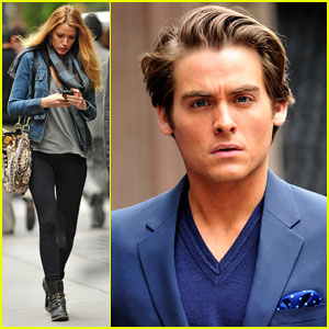 Blake Lively & Kevin Zegers: 'Gossip Girl' Phone Break