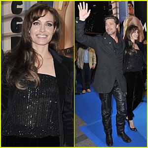 Brad Pitt & Angelina Jolie: 'Megamind' Paris Premiere!