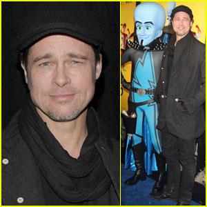 Brad Pitt: 'Megamind' Premiere With Maddox & Pax!