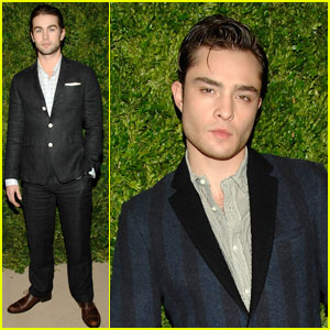 Chace Crawford & Ed Westwick: CFDA Dapper Duo