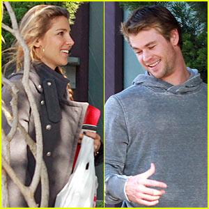 Chris Hemsworth & Elsa Pataky: All Smiles!