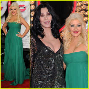 Christina Aguilera: 'Burlesque' Premiere with Cher!