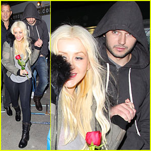 Christina Aguilera &#038; Matthew Rutler: Abbey Party Pair