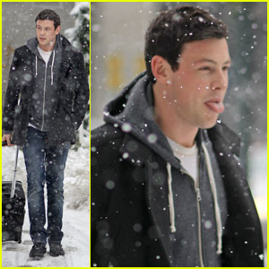 Cory Monteith: Snowy Vancouver Arrival