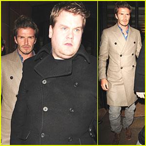 David Beckham: London Dinner with James Corden!