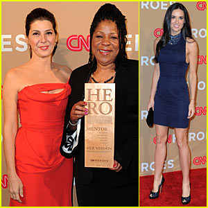 Demi Moore & Marisa Tomei: CNN Heroes Bash!