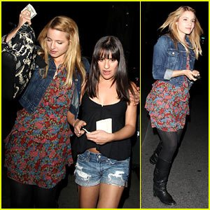 Dianna Agron & Lea Michele: Little Dom's Dinner with Cast!