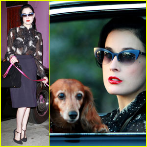 Dita Von Teese: Shopping Trip to Trashy Lingerie