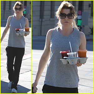 Ellen Pompeo Takes Home Juice For Two