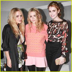 The Olsen Twins: 'Boutiques' Launch with Emma Roberts!