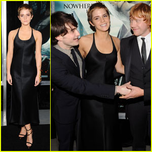 Emma Watson: 'Deathly Hallows' NYC Premiere with Daniel &#038; Rupert!