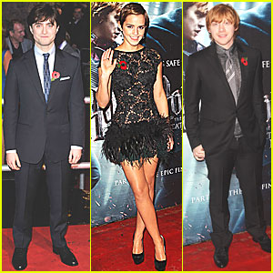 Emma Watson: 'Deathly Hallows' World Premiere with Rupert & Daniel!