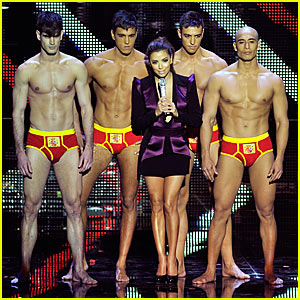 Eva Longoria Strips Male Models To Their Underwear