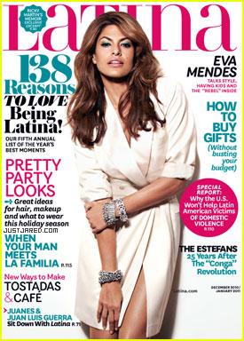 Eva Mendes Covers 'Latina' December 2010