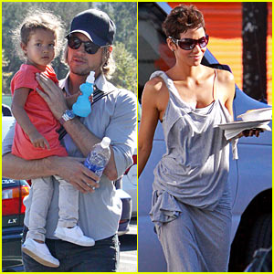 Gabriel Aubry Takes Nahla to the Zoo While Halle Works