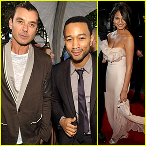 John Legend & Gavin Rossdale: AMAs Red Carpet Meet-Up!