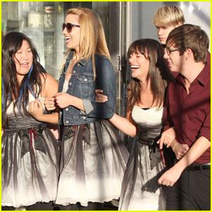 Glee Cast Giggles in Glendale