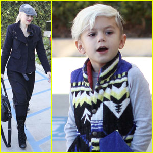 Gwen Stefani & Kingston: Happy at Hugo's
