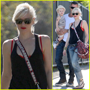 Gwen Stefani: Park Playdate With Gavin & Zuma