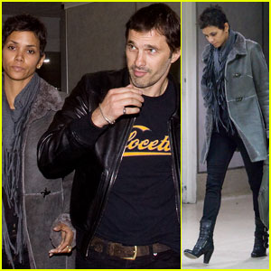 Halle Berry & Olivier Martinez: Late-Night LAX Landing