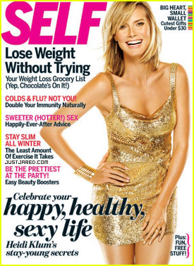 Heidi Klum Covers 'Self' December 2010
