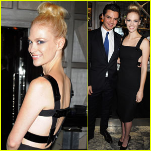 January Jones & Dominic Cooper: Dinner with Donatella!