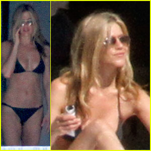 Jennifer Aniston: Black Bikini for Black Friday!