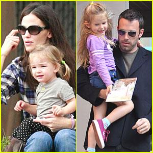 Jennifer Garner & Ben Affleck Spend Saturday with the Girls