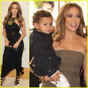 Jennifer Lopez: Gucci Children's Collection Launch with Max!