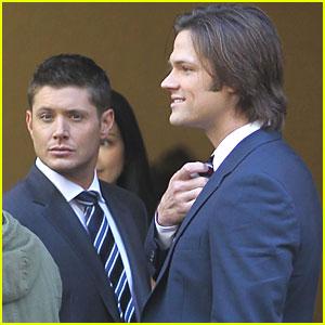 Jensen Ackles & Jared Padalecki Suit Up for 'Supernatural'
