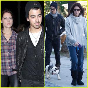 Joe Jonas & Ashley Greene: Beso Dinner Date