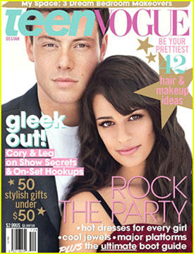 Lea Michele & Cory Monteith Cover 'Teen Vogue'