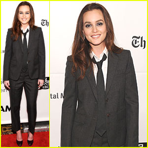 Leighton Meester Suits Up for Gotham Film Awards