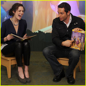Mandy Moore & Zachary Levi: 'Tangled' Reading Time!