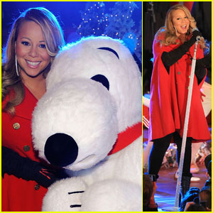 Mariah Carey: Christmas Tree Lighting with Snoopy!